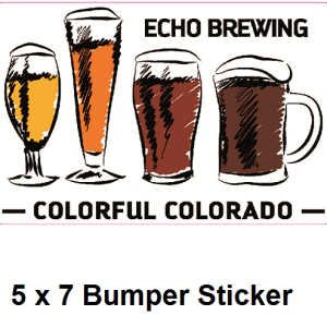 Echo Colorful Colorado Bumper Sticker