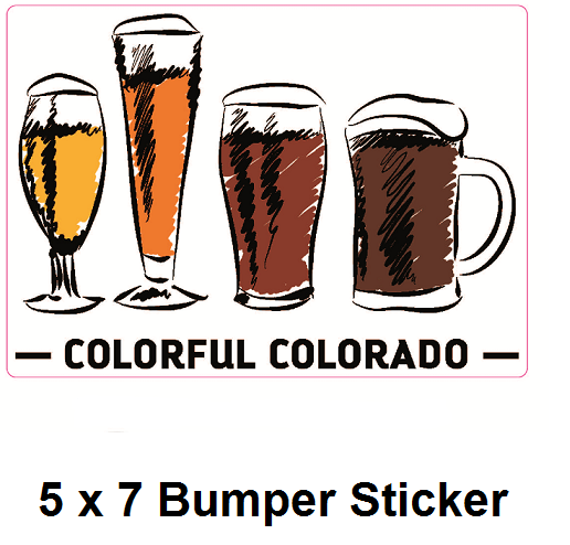 bumpe5 x 7 Colorful Colorado Bumper Sticker  r sticker w title smallest